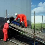 Limpeza de tanques offshore